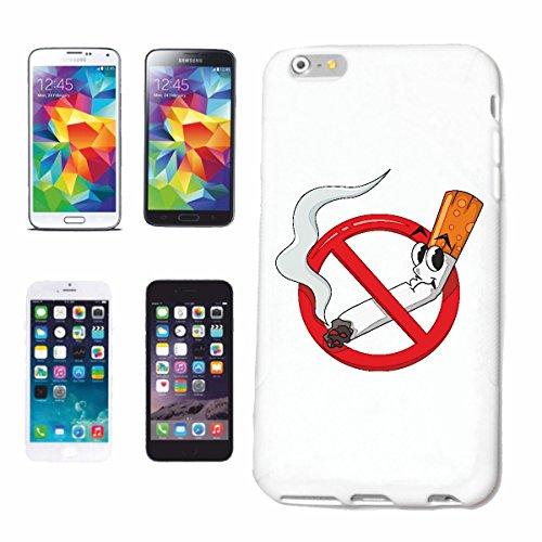 """cas de téléphone iPhone 7 """"NON-FUMEUR NON FUMEUR CIGARETTE fumée de cigarette CHAÎNE FUMEUR ANTI TABAC TABAGISME NON FUMEUR"""" Hard Case Cover Téléphone Covers Smart Cover pour Apple iPhone en blanc"""