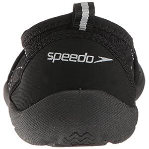 Speedo Women's Zipwalker 4.0 Athletic Water Shoe, Black/Grey, 6 C/D US