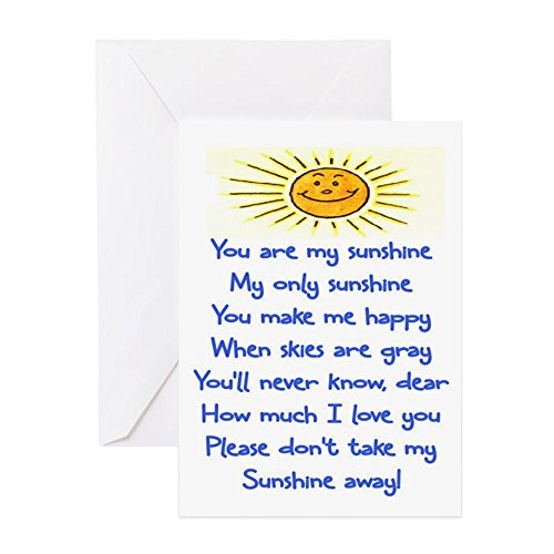 MY SUNSHINE - Greeting Card, Note Card, Birthday Card, Blank Inside Matte (Sunshine Note)