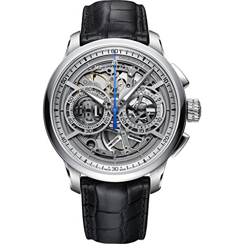 - Maurice Lacroix Masterpiece Skeleton Automatic Watch, Chronograph, ML206, Silver