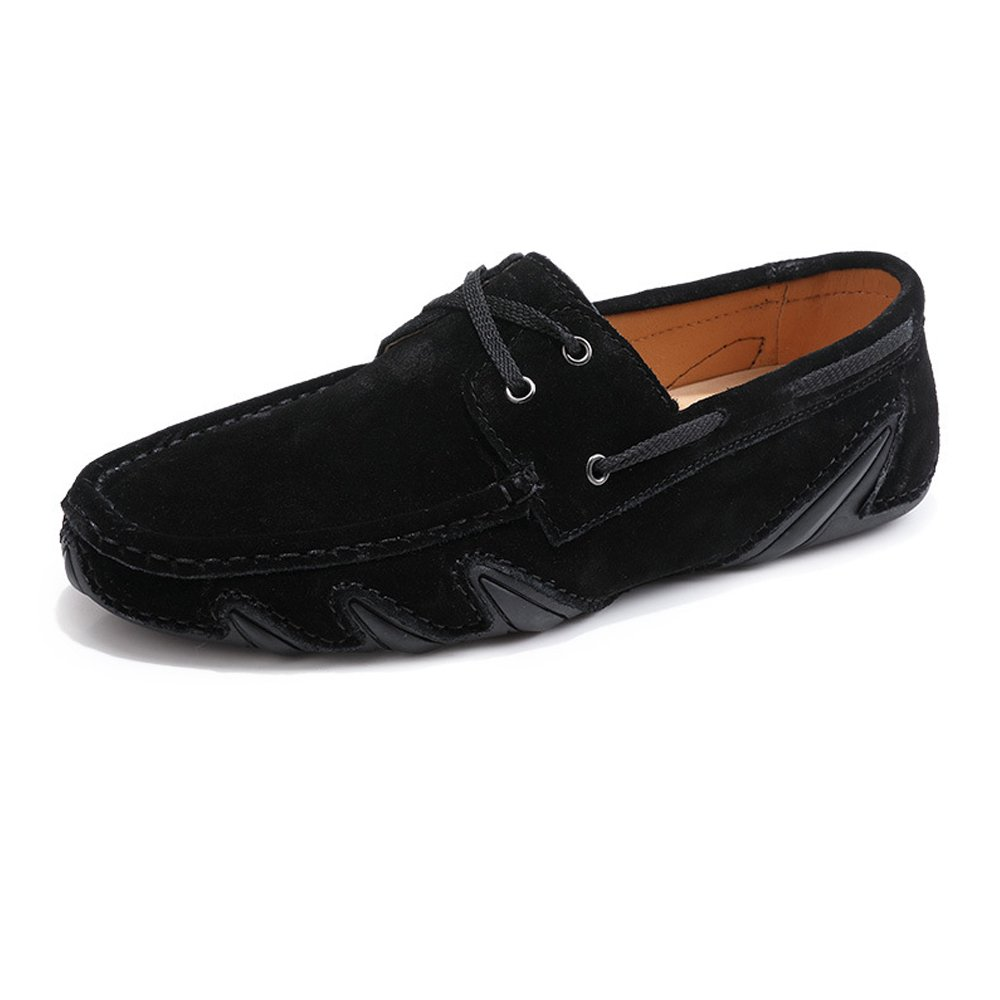 Z.L.F Mens Business Formal Shoes Driving Penny Loafers Lace UP Genuine Leather Boat Moccasins Flat Soft Sole Oxford Shoes