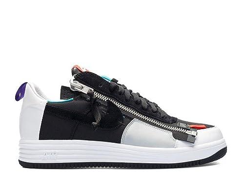 detailed look 8f0ad fcca8 Nike Lunar Force 1 SPAcronym, Scarpe da Basket Uomo, NeroBianco
