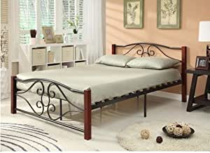 Amazon Com Twin Size Heart Shape Bed Frame Metal Amp Wood