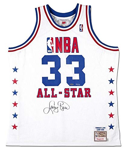 on sale 76699 94ac3 Amazon.com: LARRY BIRD Autographed Authentic 1990 NBA All ...