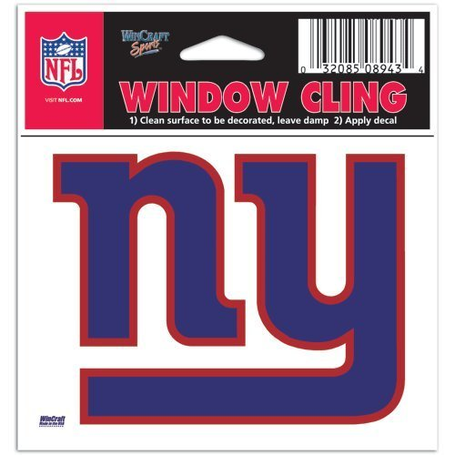 (New York Giants NFL 3x3 Static Window Cling Decal)