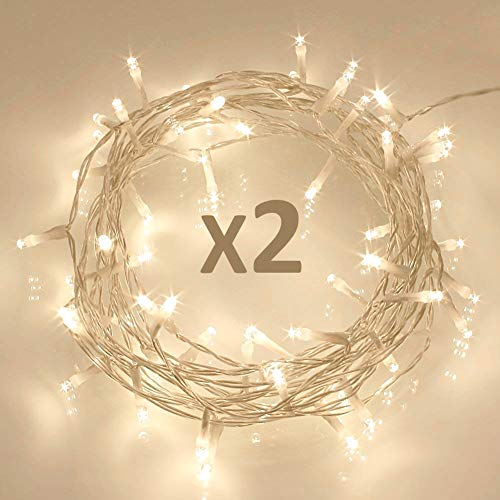 Outdoor Solar Fairy Lights Clear Cable in US - 1