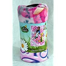 The Northwest Company Disney Tinker Bell and Friends Fairies Snow Friends Throw Blanket