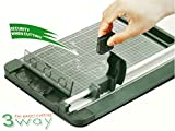 Jielisi 3-Way 12.6-inch (A4 size) Rotary Trimmer Cutter Perforate & Scallop