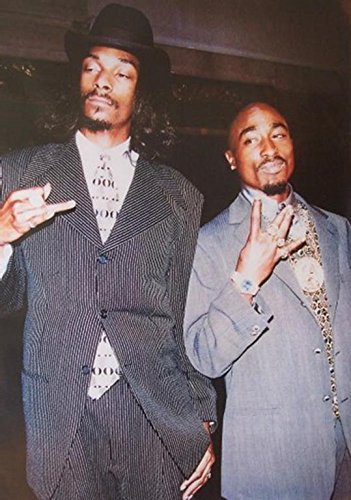 Suits   2Pac And Snoop Dogg 36X24 Music Art Print Poster Sharp Dressed Men Hip Hop Rappers Tupac Amaru Shakur
