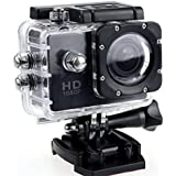 1080P Action Camera Full HD Sports Cam Waterproof up to 90 FT with 140 Degree Wide Angle Lens and 2.0 Inch LCD Display with Full Assortment of Accessories Included by Design By Morelli Legend Black