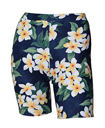 Private Island Hawaii Women UV Rash Guard Skinny Shorts Pants Leggings, Workout Outdoor Yoga/Fitness/Running Clothing (XX-Large, HNP)
