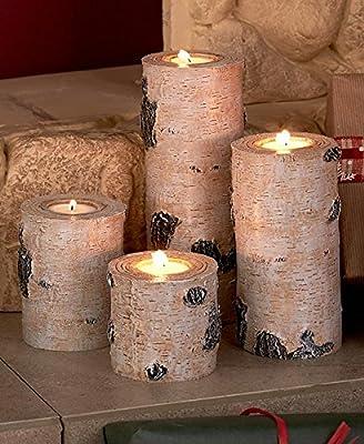Set of 4 Woodland Tea Light Candleholders