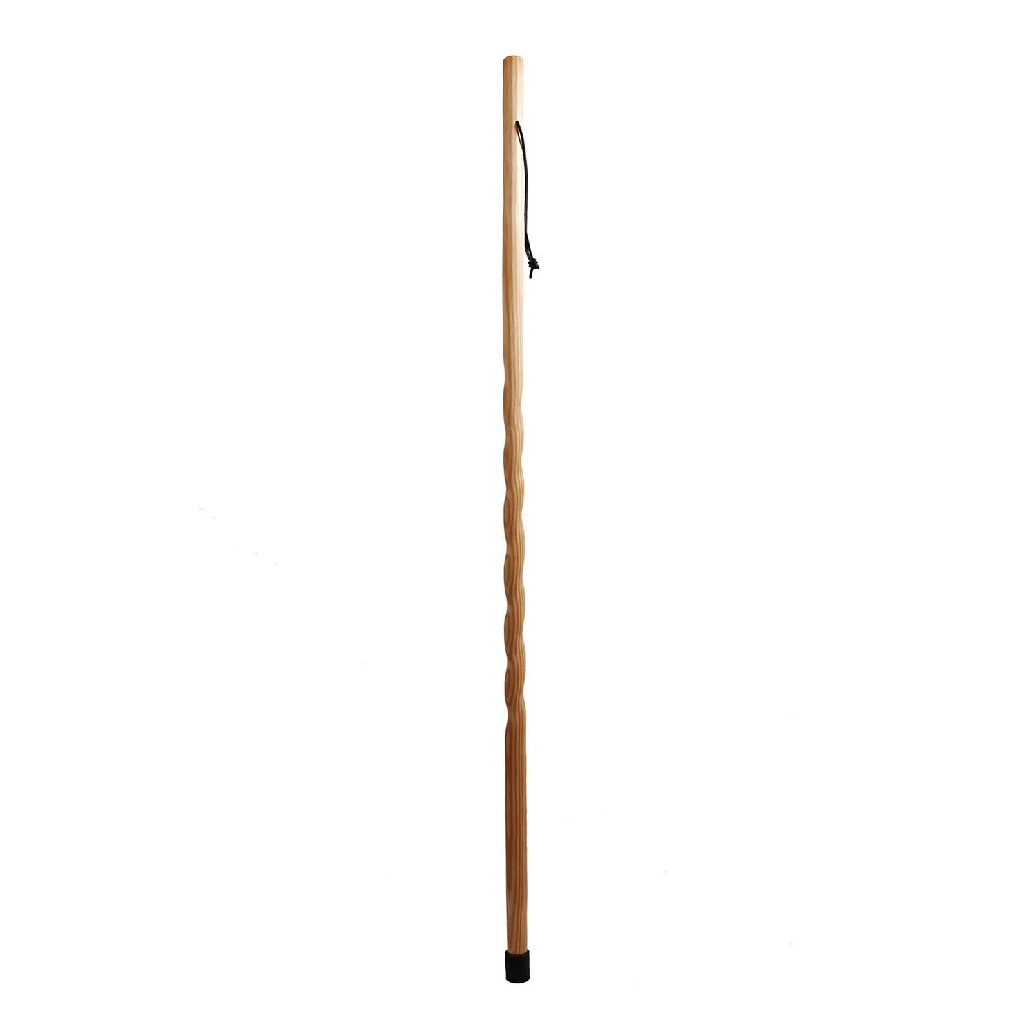 Trail Blazer by Brazos 55'' Twisted Wood Walking Stick, Made in the USA, Natural