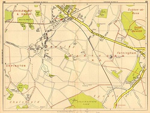 Sections Of London Map.Amazon Com London Se Eynsford Swanley Farningham Geographers A Z