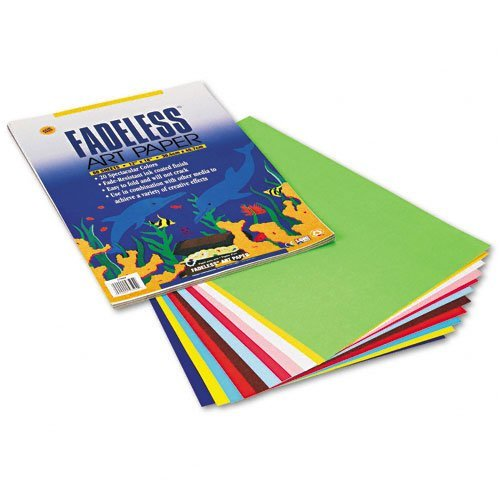 Fadeless Assorted Paper, 50 lbs., 12 x 18, 60 Sheets/Pack, Sold as 1 Package