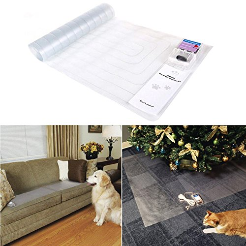 Poity New 30x16 Inch (76.540.5 cm) Electronic Pet Training Dog Cat Barrier Repellent Shock Scat Mat Pad Pets Magisterium Products Hot