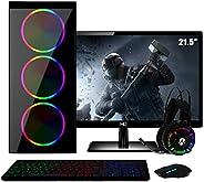 PC Gamer Completo Intel Core i5 RAM 8GB (Geforce GTX 1050 2GB) SSD 120GB HD 1TB 500W Monitor Full HD 21.5 FoxP
