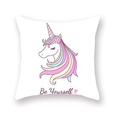 HDJX Unicornio dibujos animados animado peache funda de ...