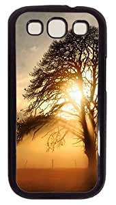 Fog across the field Custom Case Cover for Samsung Galaxy S3 / SIII / I9300 - Polycarbonate - Black