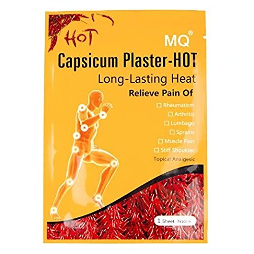 MQ Capsicum Plaster Pain Relieving Hot Patch,waist/joint pain killer Patch, 7*10CM/sheet (10) -