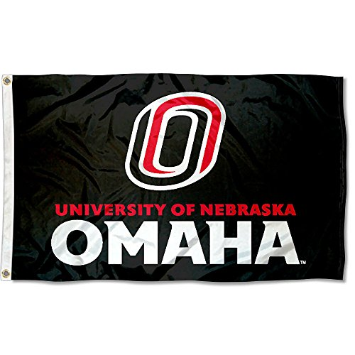 Nebraska Omaha Mavericks UNO University Large College Flag