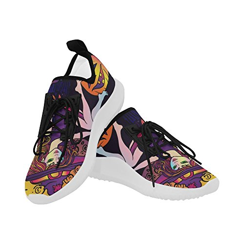 Interestprint Unicorno Delfino Ultra Leggero Scarpe Da Corsa Per Donna Halloween Witch2