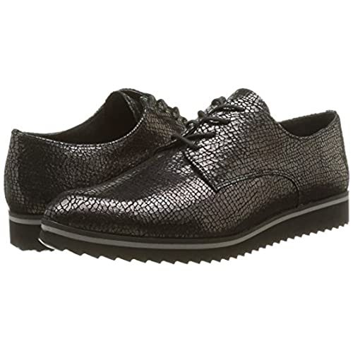 Vutou 337, Chaussures Lacées Femme, Noir, 37 EUElizabeth Stuart
