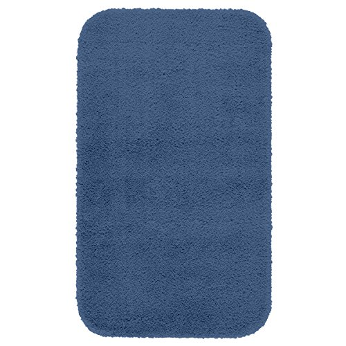 "Maples Rugs Bathroom Rugs - Cloud Bath 20"" x 34"" Washable Non Slip Bath Mat [Made in USA] for Kitchen, Shower, and Bathroom, Federal Blue"