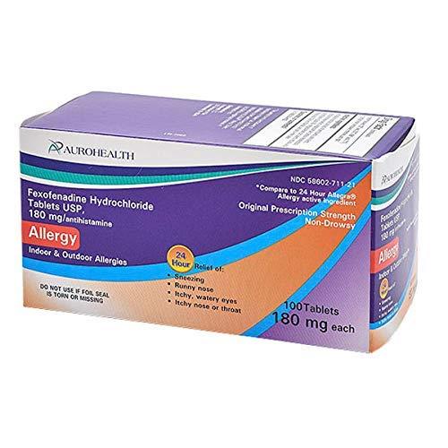Fexofenadine 180mg 100 Tablets *Compare to 24 Hour Allegra*