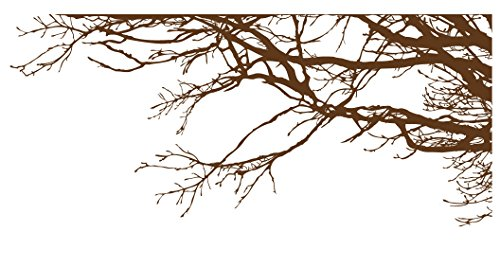 Tree Top Branches Wall Decal Sticker - Semi-Gloss Brown, 44in x 100in, -