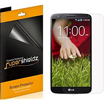 [6-PACK] Supershieldz- High Definition Clear Screen Protector For LG G2 + Lifetime Replacements Warranty