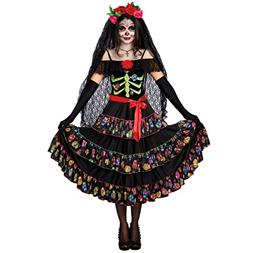 Dreamgirl Women's Lady of The Dead, Multi, L