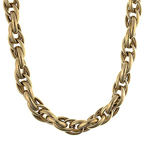 46.0 Centimetres 14ct Yellow gold Links 11.8mm High Polish Misc. Chain Type Hollow Necklace  Length Options  46 51