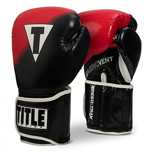 Title Boxing Speed-Trax Weighted Bag Gloves, Black/Red, Large