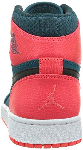 Jordan Nike Herren Air 1 Retro High Basketball Schuh 312-teal Schwarz Infrarot 23 Weiß