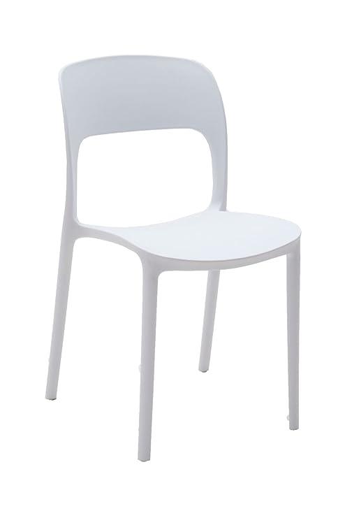 Sedie Impilabili Prezzi.Arredinitaly Set 4 Sedie Impilabili Polipropilene Bianco