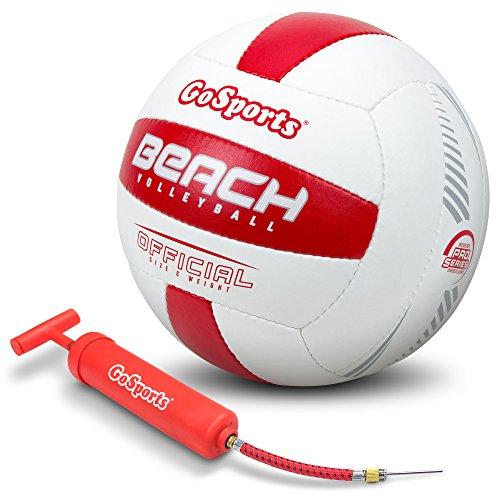 GoSports Single Ball Pro Series Beach Volleyball - Regulation Size & Weight with Bonus Air Pump ()