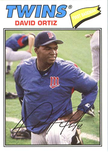 2018 Topps Archives Baseball #176 David Ortiz Minnesota Twins 1977 Topps Design