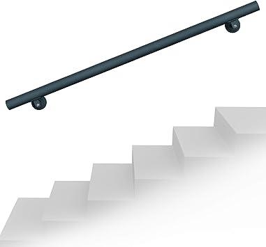 Kit Main courante Rambarde avec support mural 160 cm Escaliers Poign/ée Acier inoxydable V2A