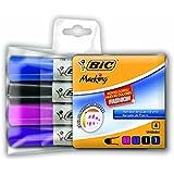Marcador de Quadro, BIC, 930779, Multicolor, pacote de 4