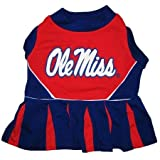 Pets First Mississippi University Dog Cheerleader Outfit, X-Small
