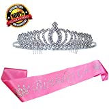 Birthday Sash Tiara, 21st Happy Birthday Tiara+ Crown, Happy Birthday Party Supplies, Favors, Decorations 18th 21st 30th Birthday, Birthday Girl, High Premium Quality.