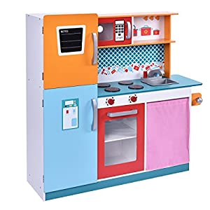 Imitiative Kids Size Adorable Wood Kitchen Cooking Pretend Play Toy Set Bring Big Feasts For The Whole Family