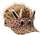 Concept One Accessories Big Boys' Flair Hair Visor Giraffe Face, Brown, One Size