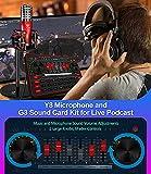 Audio Interface Live Sound Card DJ Mixer Kit for