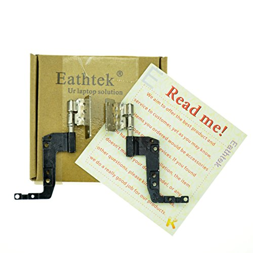 Eathtek Replacement Screen Hinge Left Right Hinges Set for Dell Latitude E5520 seires, Compatible part number 31FVT (Right Hinge)