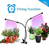 THINK LED Plant Grow Light,Indoor Plant Light,Dual Head Timing Grow Lamp,36 LED Chips with Red/Blue Spectrum,360 Degree Adjustable Gooseneck,5 Dimmable Levels,3/6/12H Timer,for Vegetative&Flowering Review