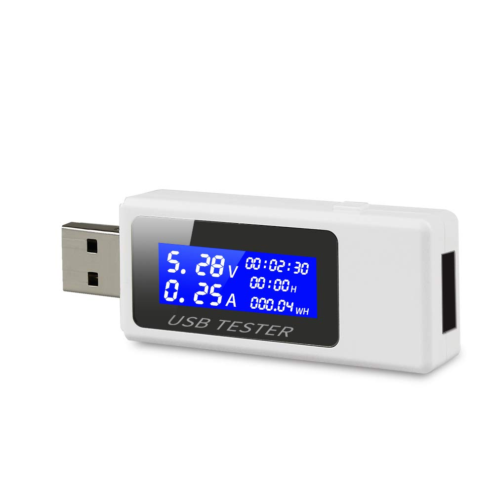 USB Tester Meter, Benss Digital USB Safety Tester Current Detector Mobile Power USB Charger Tester Meter Capacity Current Voltage Tester Meter for For Phone Power Bank