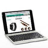 Eoso Ultra Slim Portable Wireless Bluetooth Clamshell Keyboard Folio Case for 7.9 inch Apple iPad mini 3 2014 Version mini 2 Retina Display (Silver)