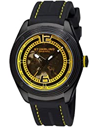 Men's 209B.335618 Millennia Conquest Automatic Skeleton Yellow Dial Watch